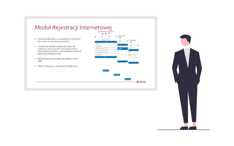 System kolejkowy - Ilustracja z prezentacją